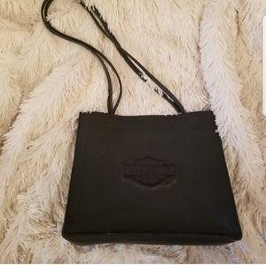 Harley-Davidson Bags - Harley-Davidson black leather logo embossed purse